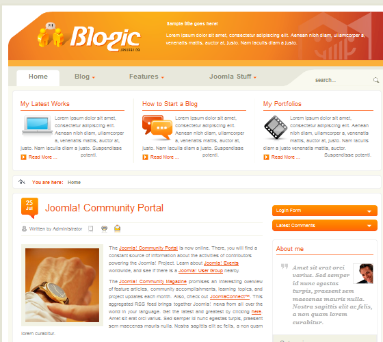BT Blogic - шаблон для Joomla 1.5