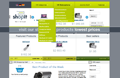 BT Shop It шаблон для Joomla 1.5
