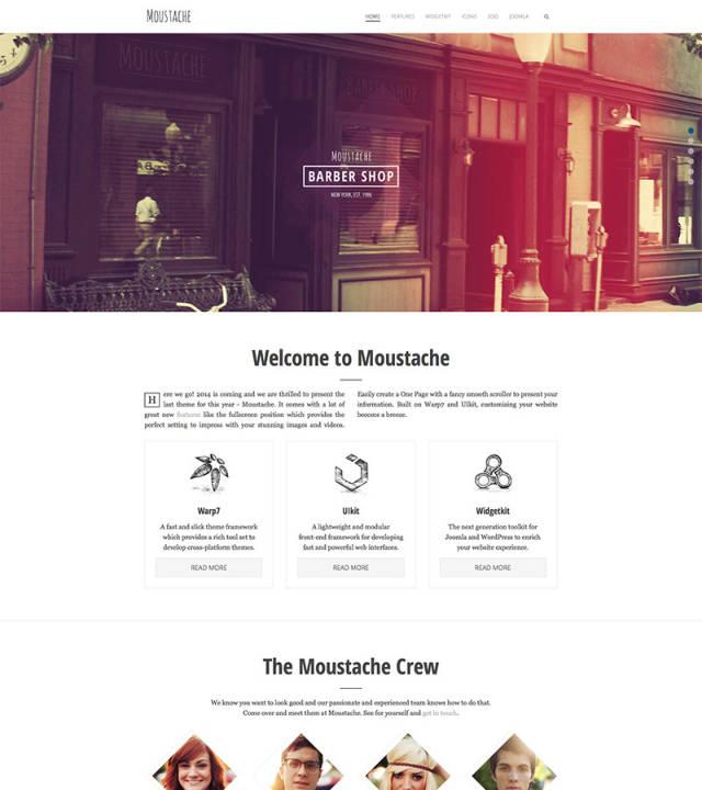 YT Moustache - Корпоративный шаблон на Joomla