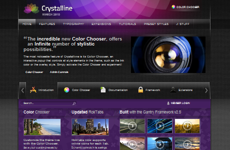 RT Crystalline шаблон для Joomla 1.5
