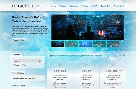 RT Refraction шаблон для Joomla 1.5