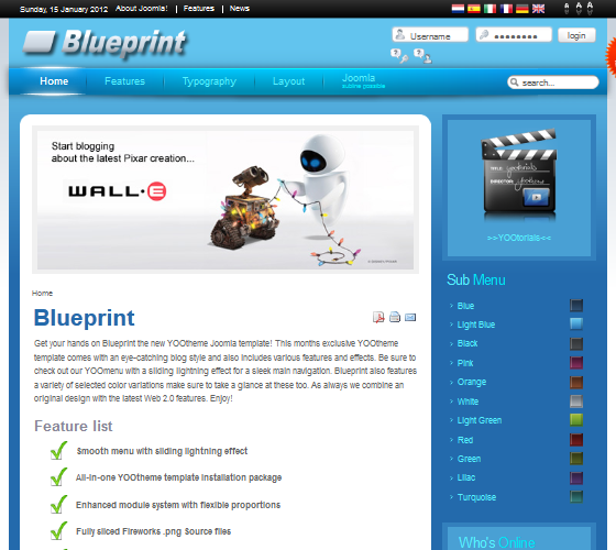 Yoo Blueprint шаблон для Joomla 1.5