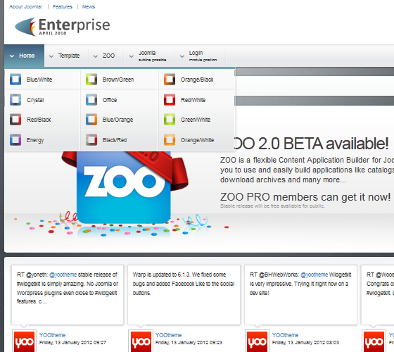 Yoo Enterprise шаблон для Joomla 1.5